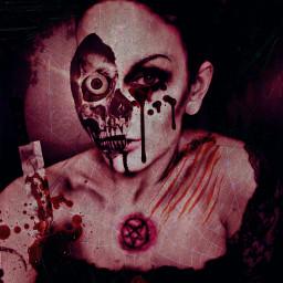 freetoedit deathgirl halloween creepy deatheater