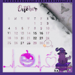 halloween october fall cat astethic halloweenspirit calendar pumpkin book spell spellbook freetoedit srcoctobercalendar octobercalendar