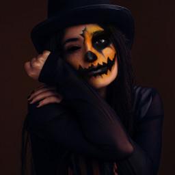 girl makeup eyeshadows eyeliner maquillaje lips halloween halloweenmakeup calavera catrina diademuertos calabaza freetoedit