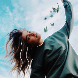 photo photography photoshop trend trending summer vibes cute beautiful aesthetic butterfly butterflies spring model freetoedit