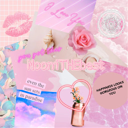 pinkaesthetic pink quotes heart pinkheart neonheart neon kiss lipstick pinklipstick flower vase rose pinkrose pinkflower clouds aesthetic seashell mandala paint lines pastel pastelpink freetoedit