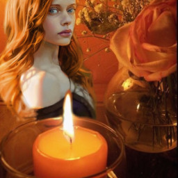 glass girl orangecollage beautiful serenity ccorangeaesthetic