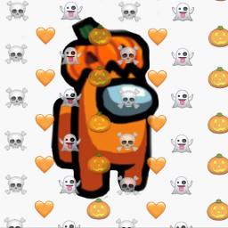 amongus pumpkin freetoedit