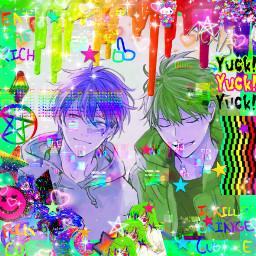 given anime glitchcore scenecore mafuyama freetoedit