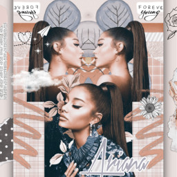 freetoedit arianagrande aesthetic collage replay