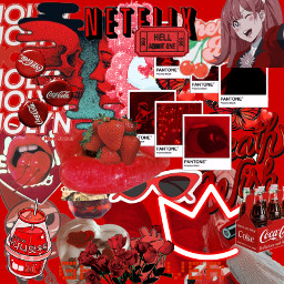 red redaesthetic strawberry crown milk anime cokacola lips netflix redflowers roses freetoedit