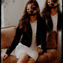 scary spooky halloween pumpkin october fall interesting people ghosts remix freetoedit