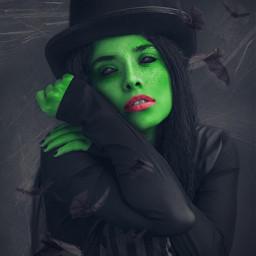 halloweenscream artisticportrait halloween witch edited madewithpicsart freetoedit