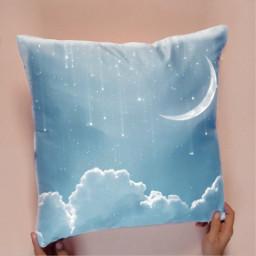 pillow moon clouds freetoedit stars