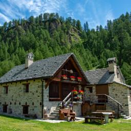 freetoedit photography mountain landscape house