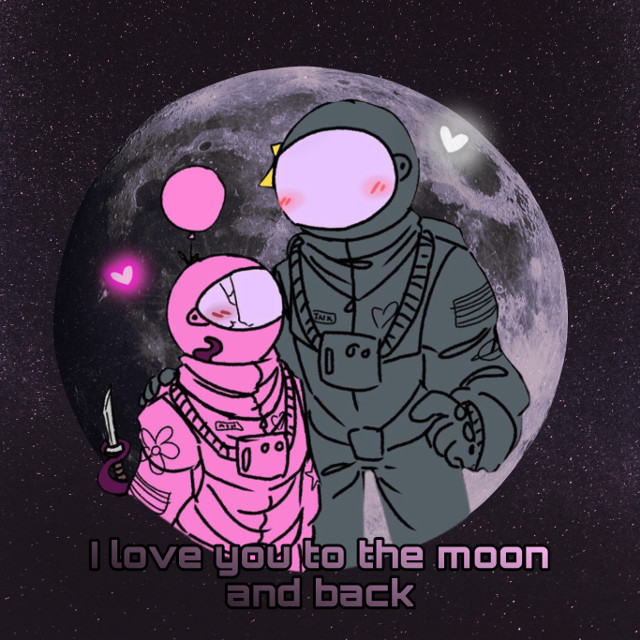 #amongus #aesthetic #cute #pink #black #love #love #you #to #the #moon #and #back #space #remixit #amonguspink #amongusblack