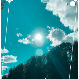 sky clouds white whiteaesthetic picsart freetoedit