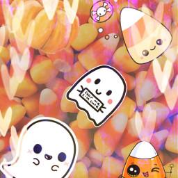 halloween artistic candycorn ghost pumpkin octobervibes freetoedit