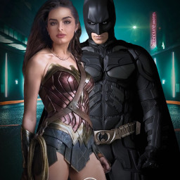 picsart wonderwoman batman dc fanart heroes superheroes city road night dixiedameilo tiktok addisonraev alienized wallpaper uhd redrawn editedwithpicsart freetoedit