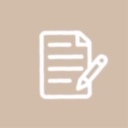 notes word appicon beigeappicon