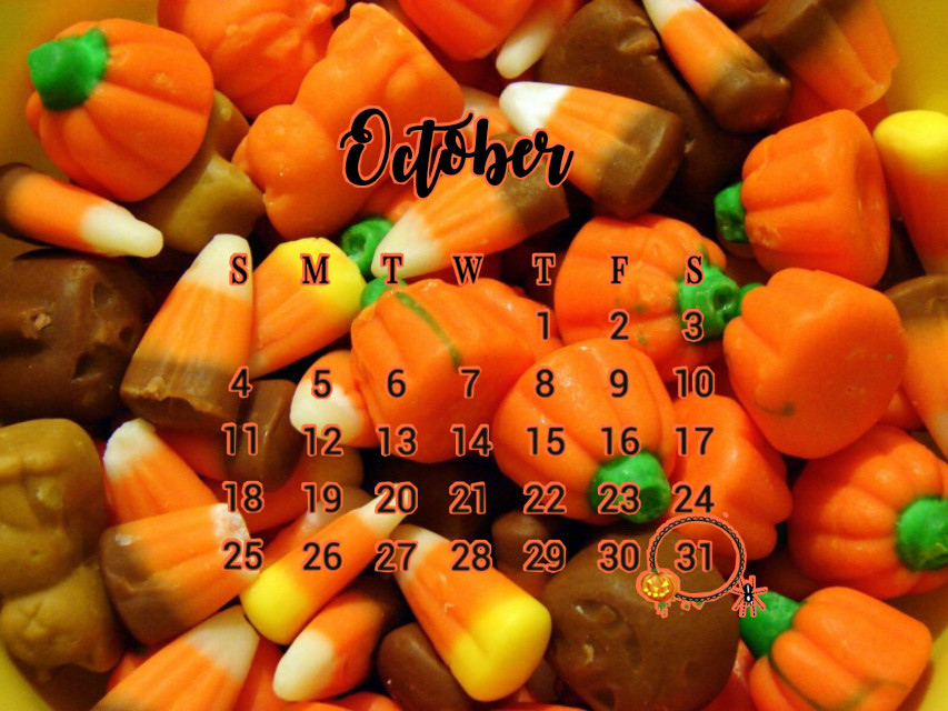 #october #halloween #fall #aesthetic #calendar #candy #candycorn #halloweencandy #octobercalendar #month #fallaesthetic #halloweenaesthetic #background #wallpaper #challenge #edit #art #picsart #pic #orange #yellow #green