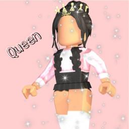 roblox queen cute pink freetoedit