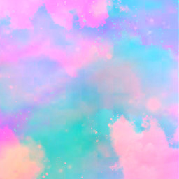 freetoedit glitter sparkle galaxy pastel colorful cute clouds aesthetic rainbow sky stars holographic art background overlay
