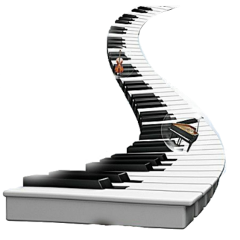 piano freetoedit fstickers stair surrealism