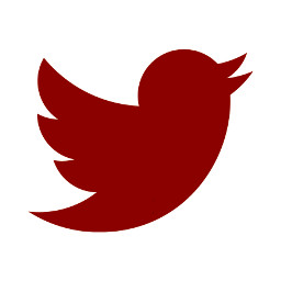 darkred twitter logo icon