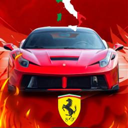 ferrari cars red freetoedit