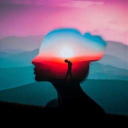 freetoedit silhouette siluet faces nature