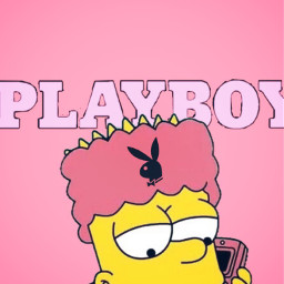freetoedit bartsimson bartsimpsons lisasimpson thesimpsons playboy aesthetic