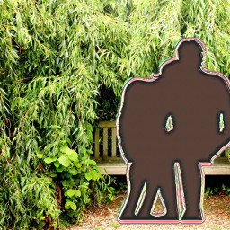 garden couple surreal mixedmedia fantasy photomanipulation bench freetoedit