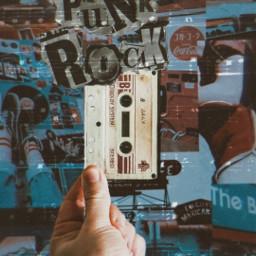 hand vintage 80sstyle vnyleffect music punkrock freetoedit ircblanktape blanktape