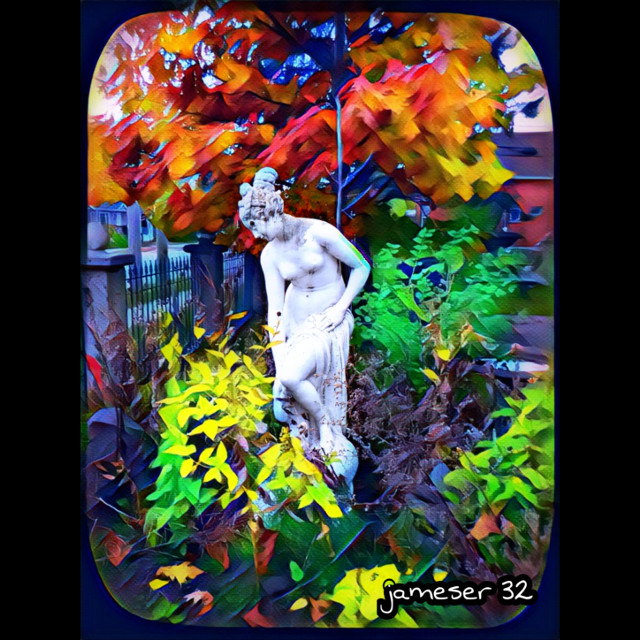 #photography #colorful #pretty #woman #statue #Garden