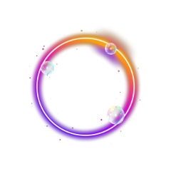 neon circle glow shinee 🌟stickers aesthetic tumblr freetoedit remixit