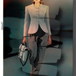 costume beautifulgirl fallfashion jacket trousers freetoedit