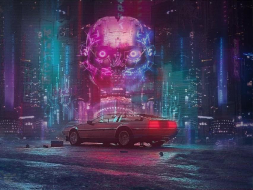 #cyberpunk #city #car