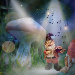 kinora remixedbyme gnomes makingmusic listeningtomusic mushroom autumn bokeh maskeffect musicnotes light spotlights stage madewithpicsart lovepicsart picsart violin freetoedit