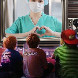 children television nurse heart mask srcsmallscreen freetoedit