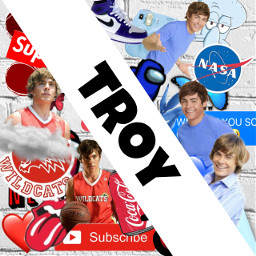troy zacefron highschoolmusical red blue bad idk freetoedit