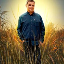 freetoedit yomismo sunset grass grassfield