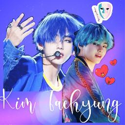 bluetae blue tae taehyung kimtaehyung kpop freetoedit