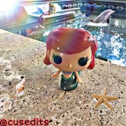 funko funkopop funkoedit funkophotography toyphotography photography funkopopedit mermaid littlemermaid thelittlemermaid disney disneyprincess water splash beach