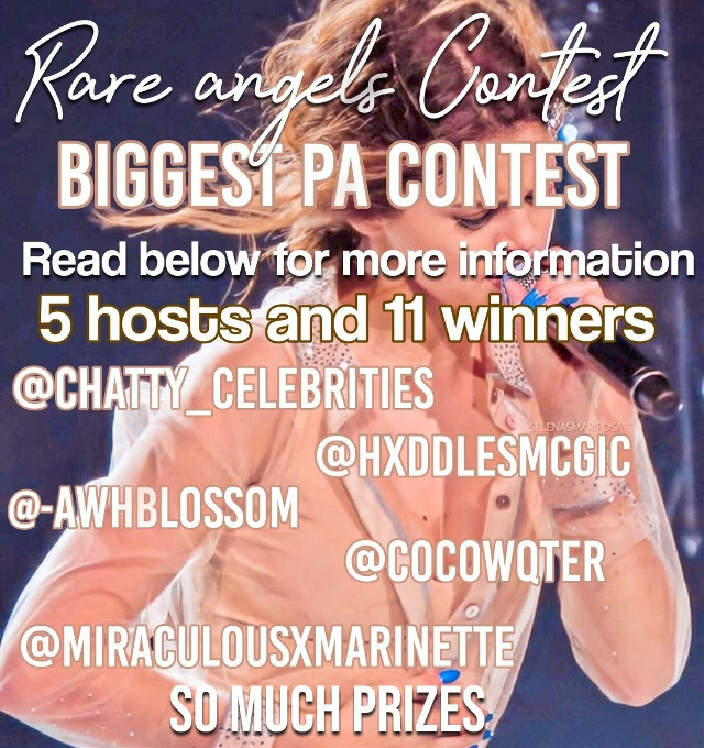 #rareangelscontest Hey! So I'm doing a contest with these people! It's the biggest contest on picsart because they're 5 hosts and they're so many prizes! Go check out @chatty_celebrities post for info on how to enter and the prizes. Tysm!  Credits to @chatty_celebrities for this pic!  #rareangelscontest  ; ♡⋆.ೃ࿔* taglist  🌈 @oceqneyes-  🌹 @-sqicy   🥝 @sweetbutdark  🍰 @charliixaddixodixie  🦄 @skinnishafanart  🐳 @emilyfreeze5  🛍️ @tokyowrlds   🍵 @youremycupoftae  💅 @melanizmxrtine  🎠 @softsxunds  🎂 @glqssycqmplex   🌊 @dixonsarkranch4   🍪 @lcvleylilac  🍡 @fqirypetqls  🍒 @lyly_are_lyla   👑 @cometblaze   🍭 @strip4taleyah  🍎 @xtcmalia   💄 @clvudy-   🌸 @awhsugar-  🍬 @chqnel_   🍿 @finnswqter   🌺 @flqwerschanel  🌻 @arigrandebillieilish   🌝 @moonlight_bliss  🍧 @wtf_kate   🌟 @lilstarwars   🌷 @gracie_lovezz    🎀 @-honey-beee   🎨 @lexi_19  🔥 @fireblaze3320   🥑 @bloody-murder   🍇 @boubbie   🍕 @astroangcl  🍜 @chatty_celebrities   💐 @arsynsrune   🌴 @elyysiian    🍩@unicorn-eater   🍫 @lositocutie_  🍉 @catzruul    🍭 @nasawcrld   🌻 @rosiesxedits  🍿@avanicharliarigirl    ☀️ @halo_outlines   ☄️@-mqrs  🥕 @carrots_are_my_bff   ✨ @sweetbutdark   🧞‍♀️ @exquisite_edits  🍒 @diqr-ariana   🧸 @dqndelions  🙈 @thecowhouse  🤠 @denimflames  👽 @httpsvivi-  🌈 @glcssypearl  🦋 @kaylaaeditz  🌸 @-flsky  🏹 @aloha_hazza  🌱@archersinsects  🍣 @crystalk1218  🧚‍♀️ @miraculousxmarinette  🌈 @stxrrymidnight  🐰 @adoreflcwer  ❤️ @izoneeditzzz  👻 @nu_joalin  🌼 @plqidove   🌠 @https_dcve   Comment to be added to my taglist