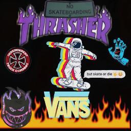 skateboarding trashed spitfire santacruz freetoedit