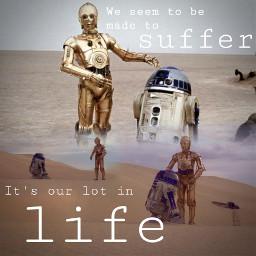 starwars droids tatooine r2d2 c3po freetoedit