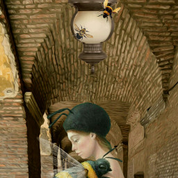 surrealismstyle surrealart surreality surreal arches affichestyle gallery oldbuilding perspective freetoedit