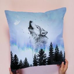 wolf lupo forest forestanimals foresta ircdesignapillow freetoedit