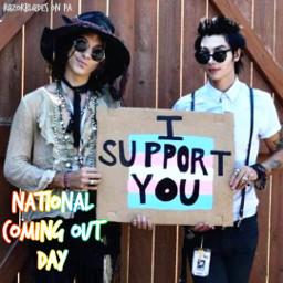 nationalcomingoutday comingout gay lesbian bi bisexual trans ftm mtf nonbinary transgender queer pan pansexual demisexual asexual abrosexual agender genderfluid ace demi aro aromantic homoromantic biromantic