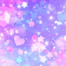 freetoedit glitter sparkle galaxy stars hearts love pink purple pastel bokeh kawaii art cute girly overlay background