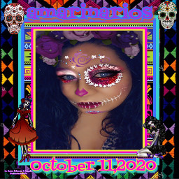 ohalloween diadelosmuertos halloween 2020 october rockoctober myediting editedbyme editedbylapa picsart photography photooftheday photographer mybackground picsartediting diadelosmuertosmakeup skulls