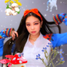 kimjennie blackpink kpop kpopedit kpopicon messy messyicon naturecore garden fairy aesthetic blackpinkjennie icecream babycore soft softcore glitchcore princesscore princess indie indiekid freetoedit