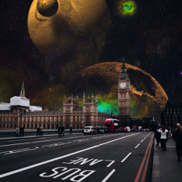 freetoedit surreal edit london city space galaxy