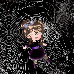 gachalife halloween spiders spiderwebs freetoedit